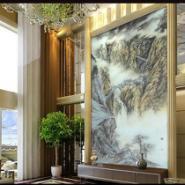 广州酒店大堂背景艺术玻璃装饰材料图片