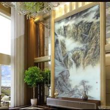 供应广州酒店大堂背景艺术玻璃装饰材料批发