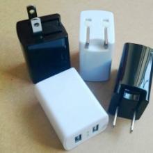 折叠式双usb电源适配器厂家 过SMI认证充电器 墙充USB火牛图片