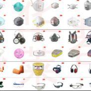 眉山3M口罩防毒面具耳塞眼镜面罩图片
