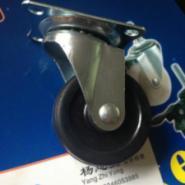 厂家直销2寸平板橡胶活动万向脚轮图片