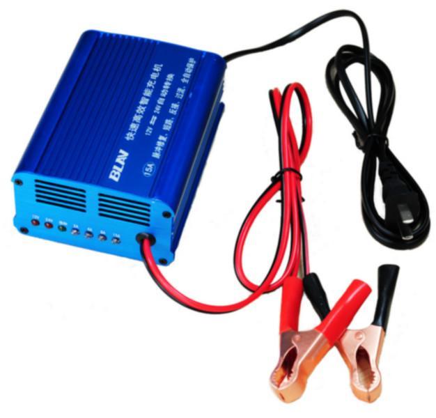 汽车 最大 电瓶 摩托车/电瓶充电器 指示灯说明:右边4个白色的LED为充电指示灯,RGB...