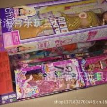 供应库存称斤芭比娃娃玩具  女孩芭比套装益智玩具