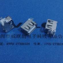 供应A母90度侧插式USB短体10.0MM+PBT白胶+9T耐高温批发