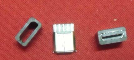 供应焊线式USB母头+MICRO5P母头焊线式带护套