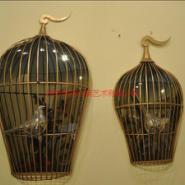供应铁艺鸟笼壁饰壁挂 金属艺术鸟笼摆件 不锈钢鸟笼雕塑 鸟笼制作厂家
