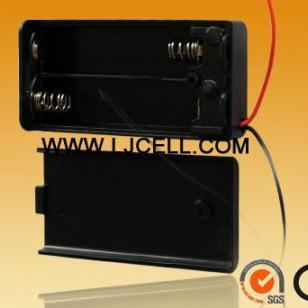 AAA7号2节带盖带开关AAA电池盒图片