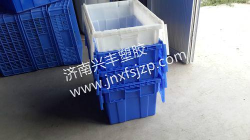 供应斜插箱连锁餐饮配送箱物流周转箱,漱玉药房专用周转箱