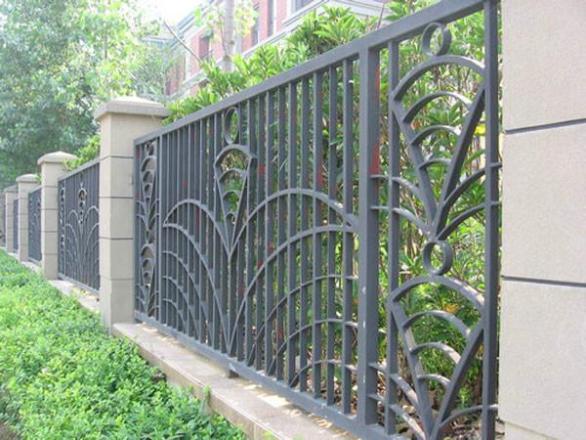 昆明小区围墙成果图片围栏铁艺价格|昆明小区广告设计栏杆v小区表图片
