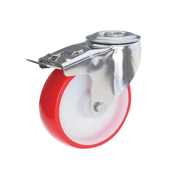不锈钢脚轮白尼龙轮红聚氨酯轮图片/不锈钢脚轮白尼龙轮红聚氨酯轮样板图 (4)