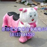 毛绒电动玩具车/可爱卡通动物车图片