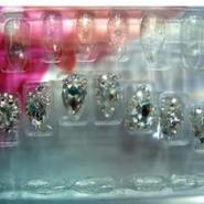 美甲成品甲片3D镶钻24片假指甲图片