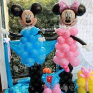 米奇米妮气球/气球立柱图片