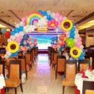 鲜花气球拱门/气球装饰/气球花卉图片