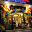 彩虹气球拱门/彩虹拱门/彩虹气球图片