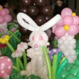 供应气球小造型/气球兔子/气球造型展示/卡通动物气球造型/气球装饰