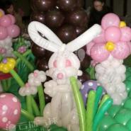 气球小造型/气球兔子/气球造型展示图片
