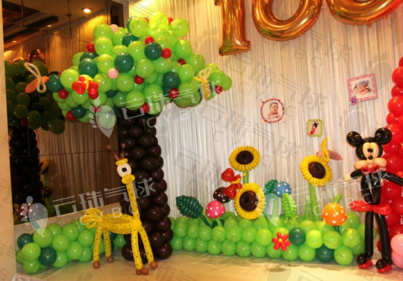 供应周岁宴生日宴气球装饰