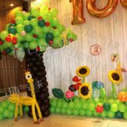 周岁宴生日宴气球装饰图片