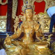 供应西藏雕塑贴金厂家,找专业贴金,就找荣和贴金