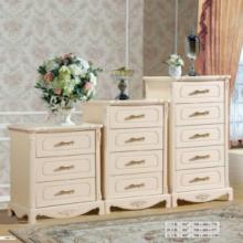供应韩式斗柜 储物柜 实木柜 茉莉花白 烤漆 饰面平整光滑不变形