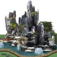 真石假山图片