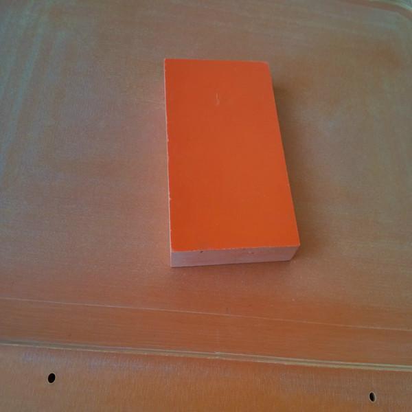 供应耐高温橘红电木板