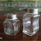 供应调料玻璃瓶餐桌调料瓶,胡椒粉瓶,瓶盖