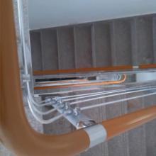 供应钢制楼梯消防楼梯钢木楼梯楼宇设施/紧急疏散通道/折叠楼梯