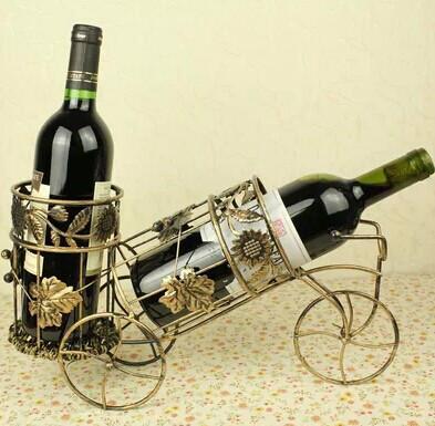 供应自行车款创意双红酒架