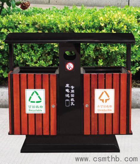 景区钢木垃圾桶首选美天环保