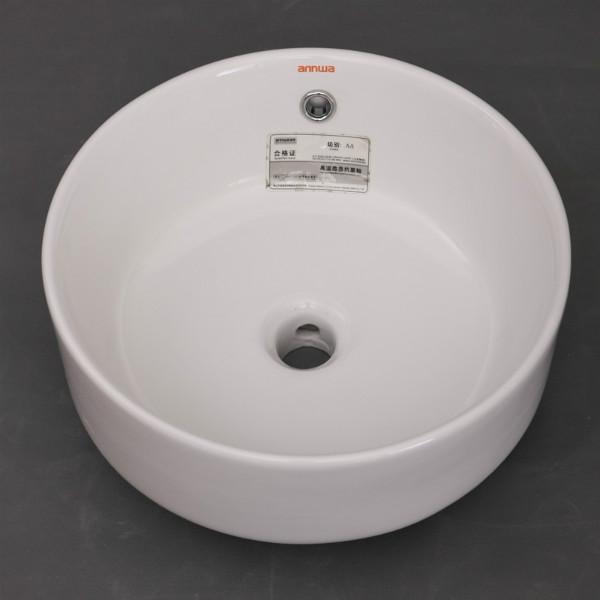 供应aP4312圆形陶瓷台上盆艺术盆洗脸盆洗手盆水槽洗漱盆