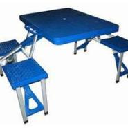 ABS折叠连体桌椅图片