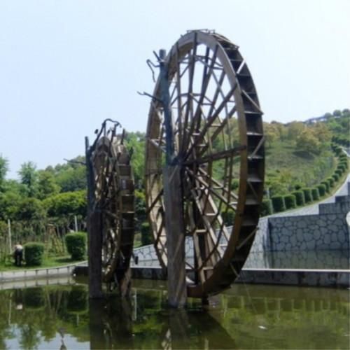 供应苏州防腐木水车图片