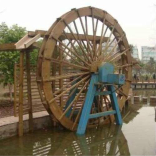 供应嘉定防腐木水车图片