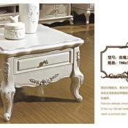 简欧现代实木茶几带抽屉客厅家具图片