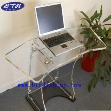 供应亚克力台式电脑桌 透明压克力笔记本电脑桌子 有机玻璃桌椅