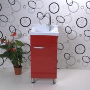 单开门瓷单盆红色洗衣柜图片