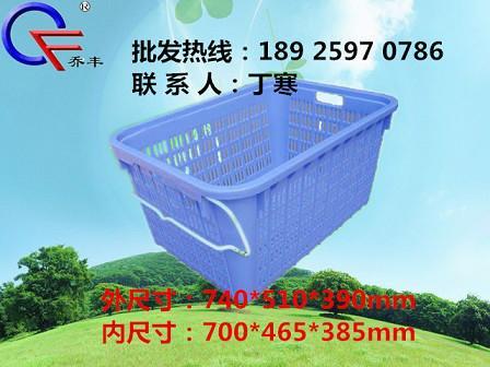 广东湛江塑料周转筐周转箩 四会塑料食品桶批发