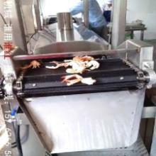 供应汇鸿小鱼油炸流水线,网带式油炸流水线HDL-8000