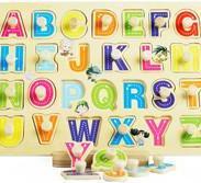 桥头木制拼图玩具图片