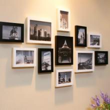 怡家客厅照片墙实木相框组合11框卧室相框墙相片墙送俩图纸批发