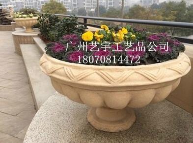 供应砂岩雕塑花盆/人造砂岩花盆