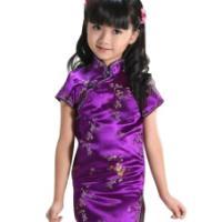中国风旗袍儿童唐装女童民族风礼服