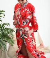 孔雀花和服浴袍浴衣图片