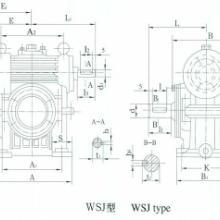 供应WSJ180蜗轮蜗杆减速器及铜蜗轮,蜗杆配件