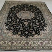 个性简欧现代时尚手工真丝地毯图片
