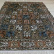 现代中式简约大方真丝手工编织地毯图片