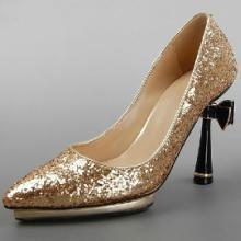 供应婚鞋定制烫钻高跟鞋