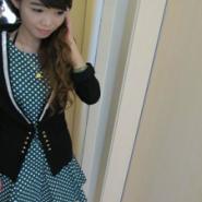 绿色波点连衣裙搭配小外套批发价图片